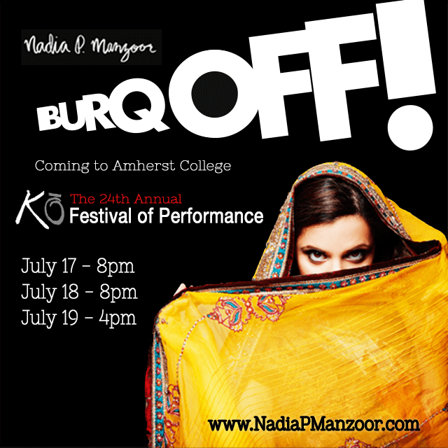 Burq Off! poster for Ko Festival of Performance